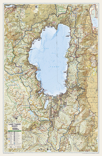 Lake Tahoe Basin [Laminated]
