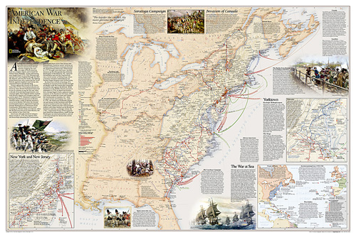 Battles of the Revolutionary War and War of 1812: 2 sided [Laminated]