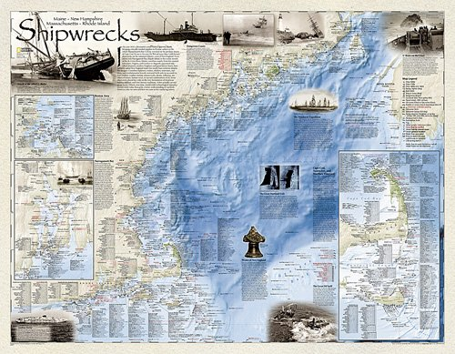 Shipwrecks of the Northeast [Laminated]