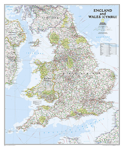 England and Wales Classic [Laminated]