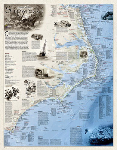 Shipwrecks of the Outer Banks [Laminated]