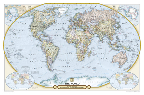 NGS 125th Anniversary World Map [Laminated]