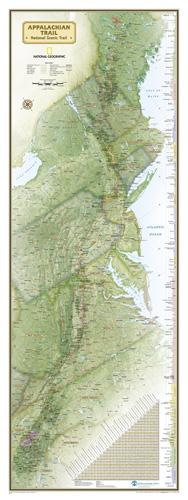Appalachian Trail Wall Map [Boxed]