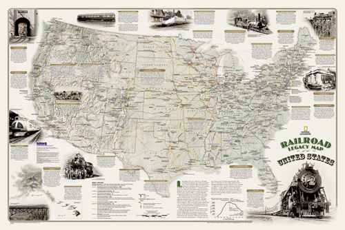 Railroad Legacy Map of the United States