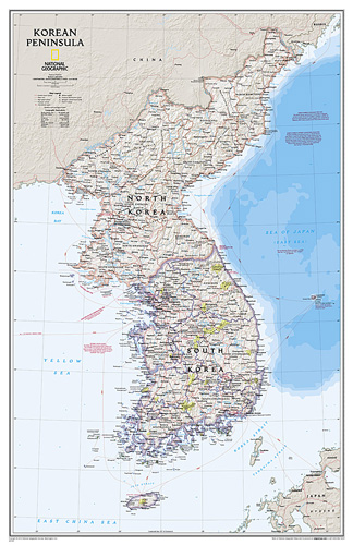 Korean Peninsula Classic [Laminated]
