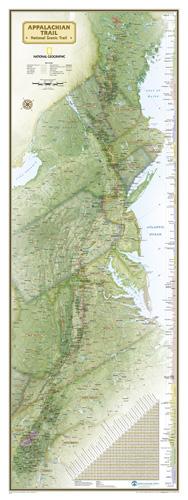 Appalachian Trail Wall Map [Laminated]