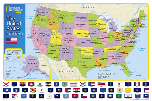 Topographic Map Of Us States.The United States For Kids
