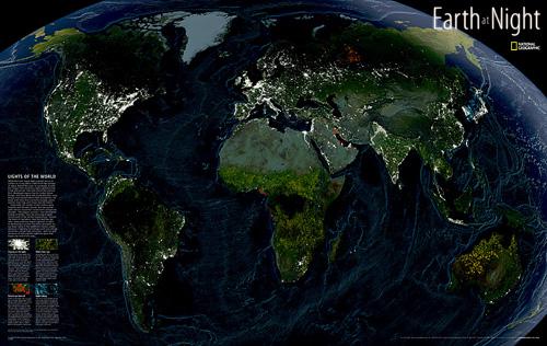 Earth at Night [Tubed]