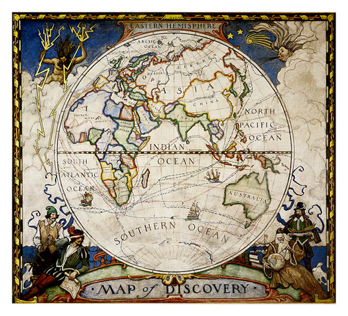 Map of Discovery, Eastern Hemisphere [Tubed]