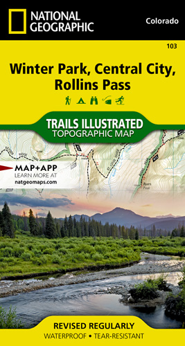 Winter Park, Central City, Rollins Pass trail map