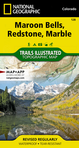 Maroon Bells, Redstone, Marble trail map
