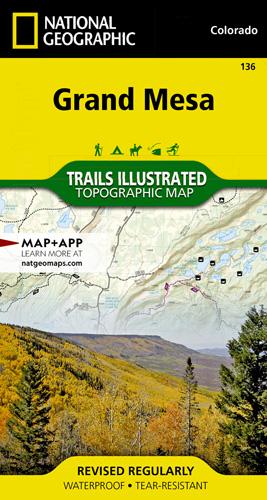 Grand Mesa trail map