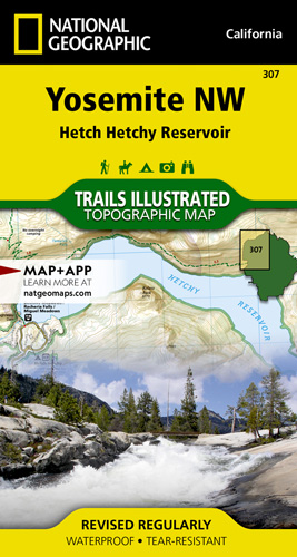 Yosemite NW Hetch Hetchy trail map