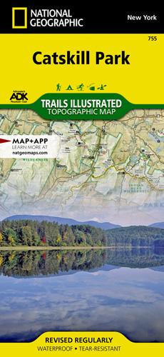 Catskill Park trail map