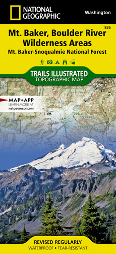 Mount Baker and Boulder River Wilderness Areas trail map