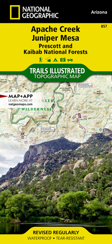 Apache Creek, Juniper Mesa trail map