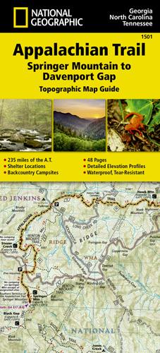 Davenport Washington Map.Appalachian Trail Springer Mountain To Davenport Gap Georgia