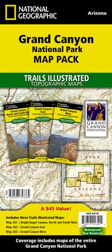 Grand Canyon National Park [Map Pack Bundle]