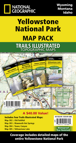 Yellowstone National Park [Map Pack Bundle]