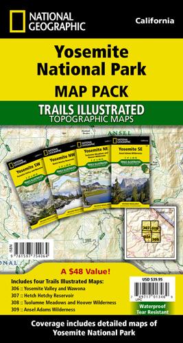 Yosemite National Park [Map Pack Bundle]