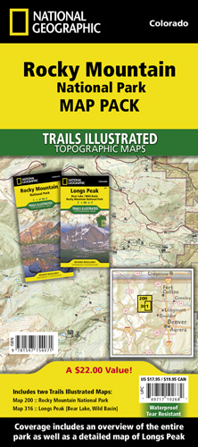 Rocky Mountain National Park [Map Pack Bundle]