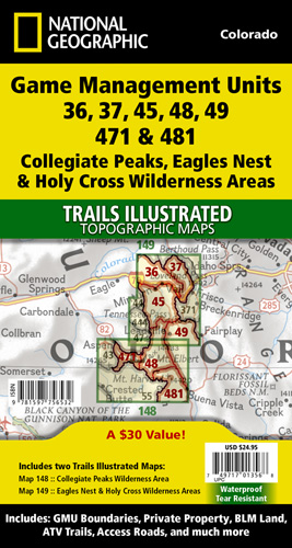 Holy Cross Wilderness Areas GMU Map
