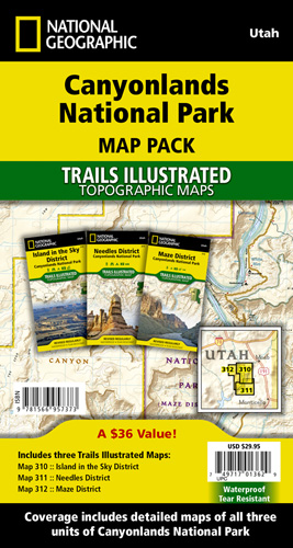 Canyonlands National Park Map Pack Bundle - Map of all the national parks in the us