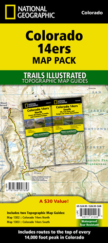 Colorado 14ers [Map Pack Bundle] on