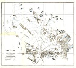 Muir Glacier, Alaska Map
