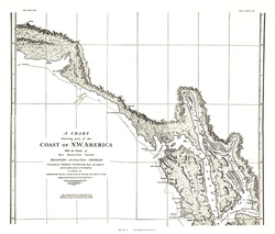 A Chart showing part of the Coast of NW America Side 2