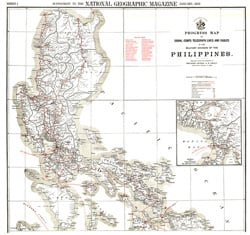 Philippines Military Telegraph Lines North Map