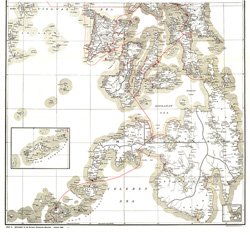 Philippines Military Telegraph Lines South Map