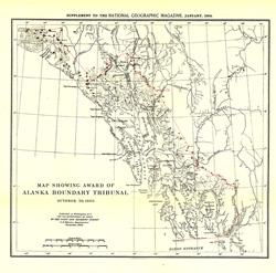 Map Showing Award of Alaska Boundary Tribunal of 1896