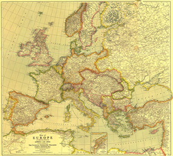 Europe Map with Africa and Asia