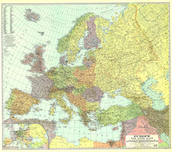 Europe, and the Near East Map