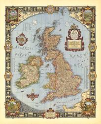 A Modern Pilgrim's Map of the British Isles