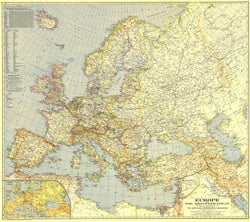 Central Europe and the Mediterranean Map