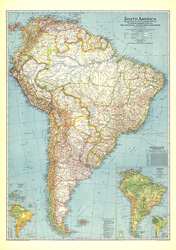 Northern and southern hemispheres map 1942 south america map gumiabroncs Image collections