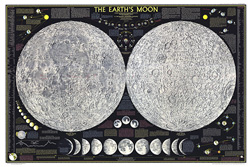 Earths Moon Map