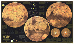 Red Planet Mars Map