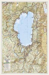 south lake tahoe elevation map Lake Tahoe Basin Map