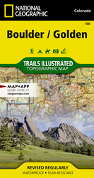 Boulder, Golden trail map