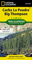 Cache La Poudre, Big Thompson trail map