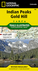 Indian Peaks, Gold Hill trail map