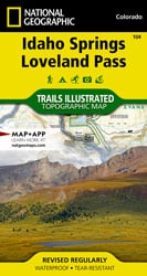 Idaho Springs, Loveland Pass trail map