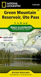 Green Mountain Reservoir, Ute Pass trail map