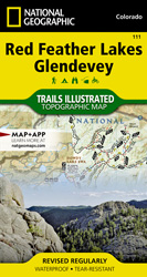 Red Feather Lakes, Glendevey trail map