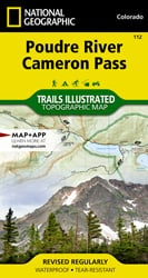 Poudre River, Cameron Pass trail map