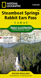 Steamboat Springs, Rabbit Ears Pass trail map