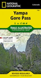Yampa, Gore Pass trail map